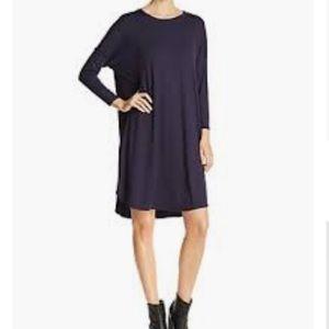 EILEEN FISHER Long-Sleeve Boxy Jersey Knee-Length